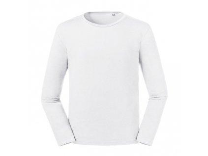 100M•Men´s Pure Organic Long Sleeve Tee , white, XS