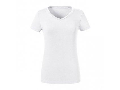 103F•Ladies´ Pure Organic V-Neck Tee , white, XS