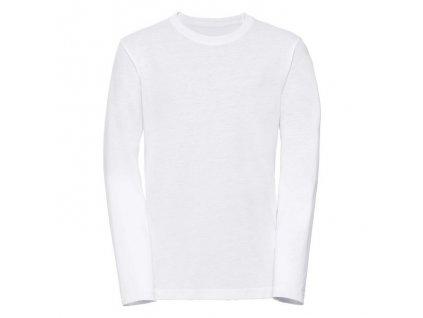 167B•Children´s Long Sleeve HD T , white, 5//6
