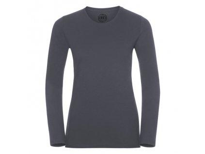 167F•Ladies` Long Sleeve HD T , convoy grey, XS