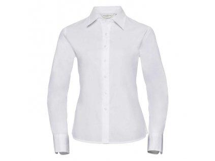 916F•Ladies` Long Sleeve Classic Twill Shirt , white, XS