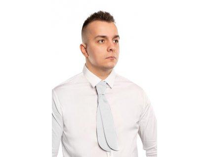 Čašnícka kravata úzka , white
