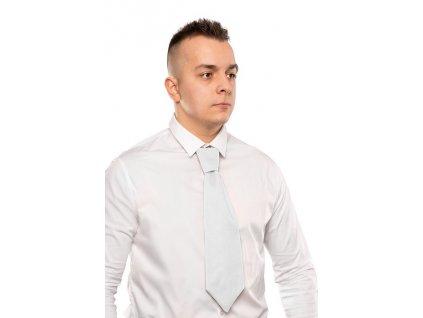 Čašnícka kravata široká , white