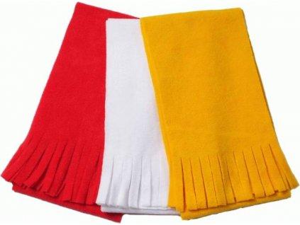 Fleecový šál so strapcami , white