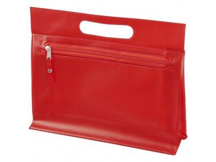 Toaletná taška Paulo z priehľadného PVC , Red