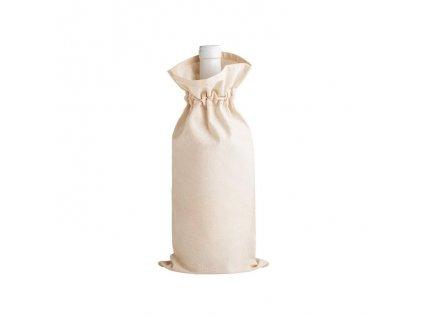 100% bavlnená taška na fľašu , natural