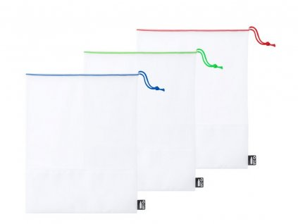 3 ks opakovane použiteľných vreciek na potraviny , white