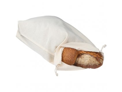 Bavlnené vrecúško na pečivo , white