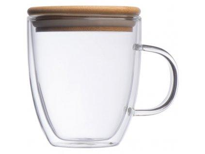 Dvojstenný pohár (350 ml) , transparent