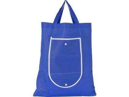 Skladacia nákupná taška z netkanej textílie (80 g /m2) , Blue