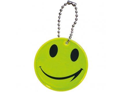 Reflexná kľúčenka v tvare smajlíka , Yellow
