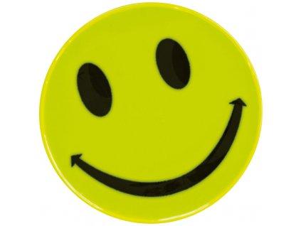 Reflexná nálepka v tvare smajlíka , Yellow