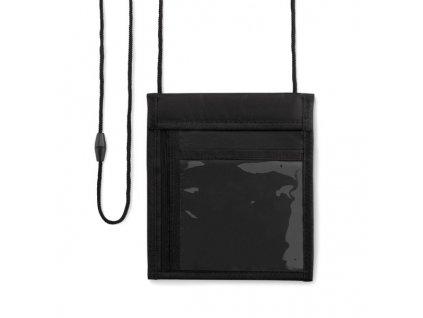 Peňaženka na krk , Black