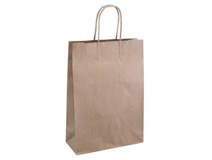 Darčeková papierová taška , natural, L