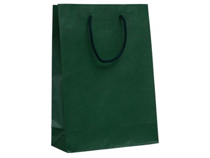 Darčeková papierová taška , green, L