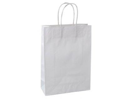 Darčeková papierová taška , white, M
