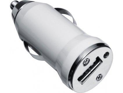 Plastový napájací adaptér do auta , white