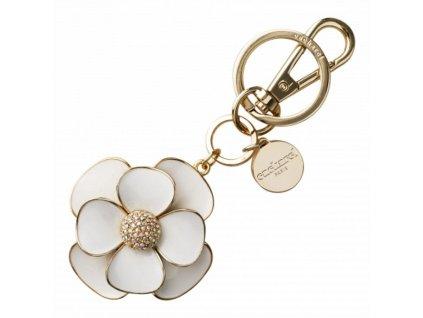 Dámska kľúčenka v tvare kvetu , white