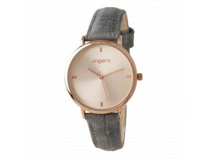 Dámske kožené hodinky, 3ATM, darčekové balenie , Grey