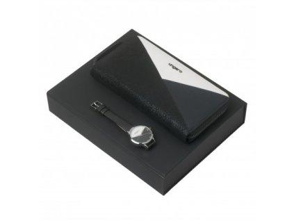 Dámske hodinky a peňaženka AURELIA , black/white