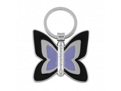Dámska kľúčenka v tvare motýľa , Navy