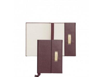 Dámsky zápisník A6 s magnetickým klipom , Burgundy