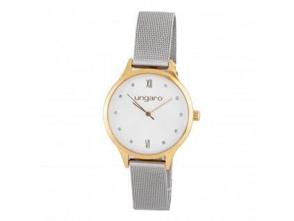 Dámske náramkové hodinky , chrome/gold