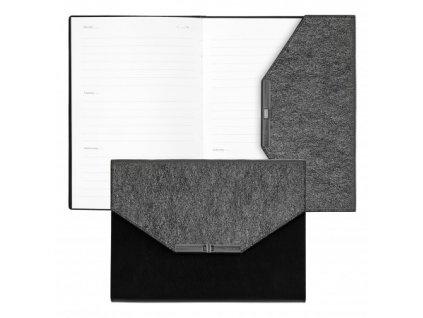 Elegantný diár , black/grey