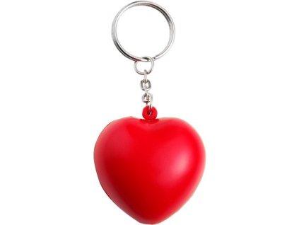 Antistresová kľúčenka - srdce , Red