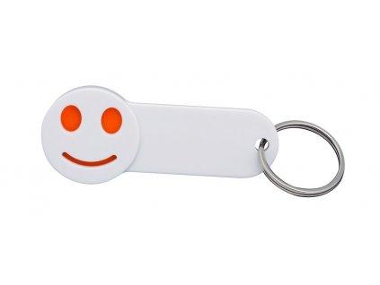 Kľúčenka so žetónom (1 EUR) , Orange