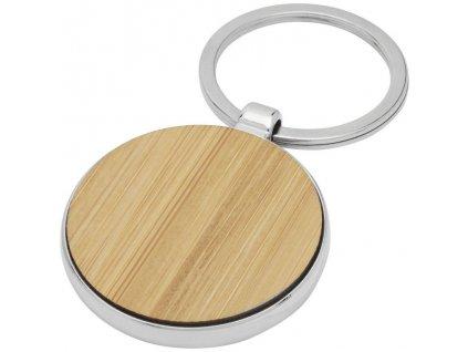 Bambusová kruhová kľúčenka , wood