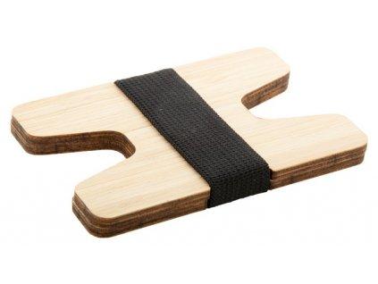 Držiak na karty z bambusovej preglejky , natural