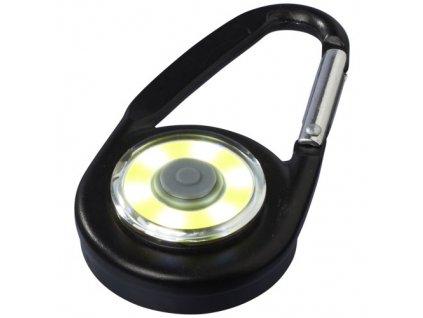 Karabína so svetlom, 6 LED, hliník , solid black
