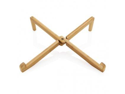 Bambusový stojanček na notebook alebo tablet , Brown