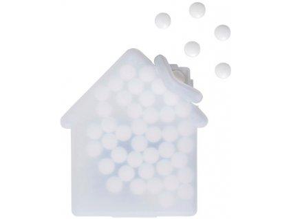Mentolové cukríky (6,5g) bez cukru v plastovej krabičke , white