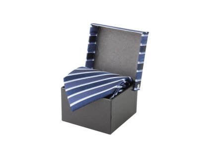 Hodvábna kravata André Philippe , dark blue/old royal blue