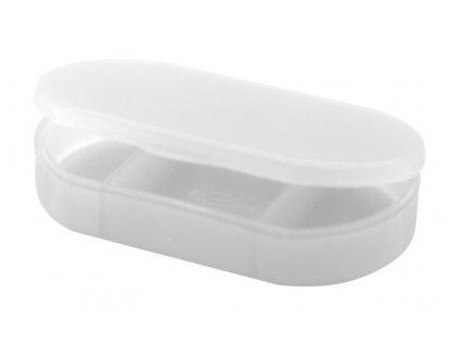 Box na pilulky, 3 oddiely , white