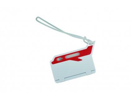 Menovka na batožinu , white/red