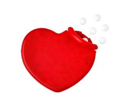 Mentolové cukríky (60ks) bez cukru v plastovej krabičke , Red