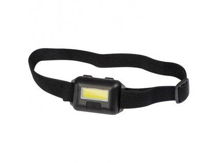 Čelovka s COB LED svetlom , Black