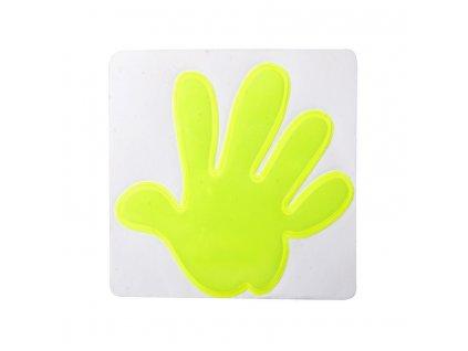 Reflexné nálepka - ruka , Yellow