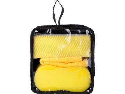 3-dielna sada na umývanie auta , Yellow