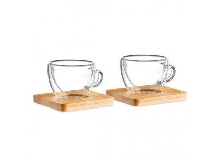 Dve šálky na espresso (90 ml) , transparent