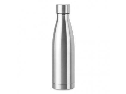 Dvojstenná flaša (500ml) , Dull silver