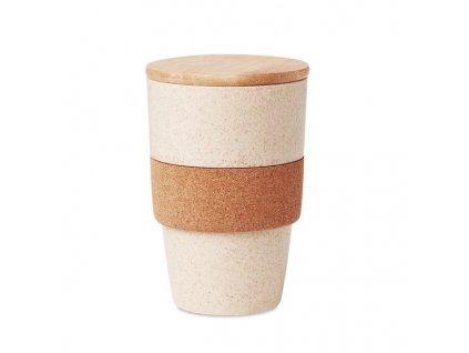 Pohárik z PLA a pšenice (420 ml) , Beige