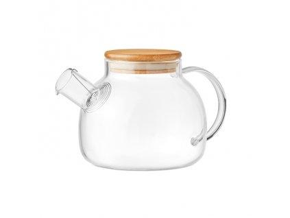 Čajová konvička zo skla, 850 ml , transparent