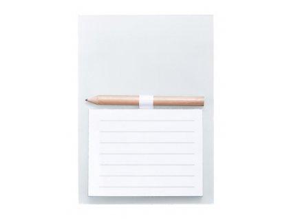 Blok s magnetkou , white