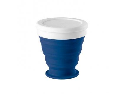 Skladací cestovný hrnček 250 ml , Blue