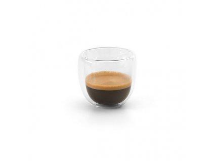 2-dielna kávová sada (90 ml) , transparent