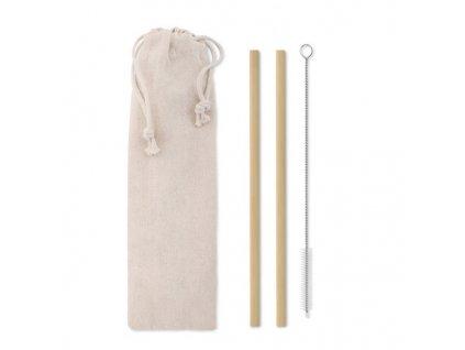Bambusové slamky , Beige
